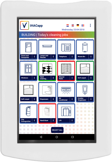 iHACapp tablet